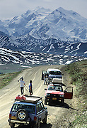 Photographers, Denali Park Road, Mt. McKinley, Mount McKinley, Denali National Park, Alaska