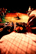 Turntables at UK B-Boy Championships, London, U.K 2004.