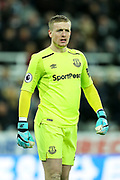 Jordan Pickford (#1) of Everton during the Premier League match between Newcastle United and Everton at St. James's Park, Newcastle, England on 13 December 2017. Photo by Craig Doyle.
