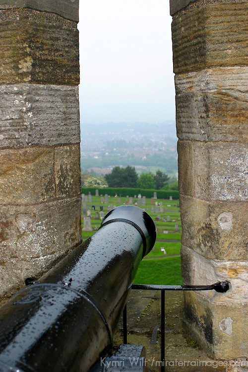 Europe, Great Britain, United Kingdom, Scotland. A canon of Stirling Castle.