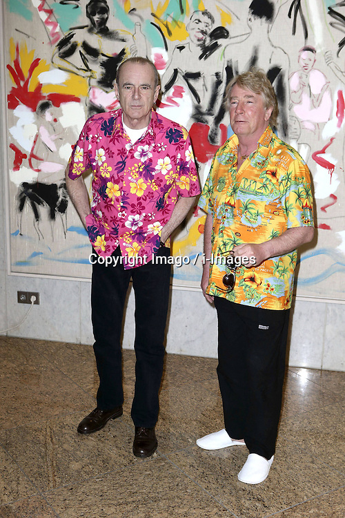 British musicians Rick Parfitt and Francis Rossi of the band Status Quo pose during a photocall at the 63rd annual Berlin International Film Festival, nearby the Hotel Interconti in Berlin, Germany, Germany,  February 9, 2013. Photo by Imago / i-Images...UK ONLY