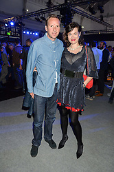 JASMINE GUINNESS and GAWAIN RAINEY at the Maserati Levante VIP Launch party held at the Royal Horticultural Halls, Vincent Square, London on 26th May 2016.
