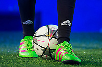The new  football shoes of Adidas ACE 16 at the 1v1 tournament to find the boss of Madrid at the Museo del Ferrocarril in Madrid, March 09, 2016. (ALTERPHOTOS/BorjaB.Hojas)