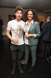 JOE KENNEDY director of The Unit London and REBECCA LIDERT Director of CNB Gallery at the Hix Award 2016 held at Unit London, 147 Wardour Street, Soho, London on 5th September 2016.