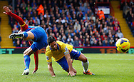 Picture by David Horn/Focus Images Ltd +44 7545 970036<br /> 26/10/2013<br /> Adlene Guedioura of Crystal Palace and Mikel Arteta of Arsenal during the Barclays Premier League match at Selhurst Park, London.