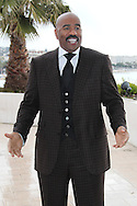 """CANNES, FRANCE - APRIL 08:  Steve Harvey attends """"Steve Harvey Show' Photocall duirng the 50th MIPTV on April 8, 2013 in Cannes, France.  (Photo by Tony Barson/Getty Images)"""