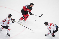 Mike Matheson of Canada during the 2017 IIHF Men's World Championship group B Ice hockey match between National Teams of Canada and Switzerland, on May 13, 2017 in AccorHotels Arena in Paris, France. Photo by Vid Ponikvar / Sportida