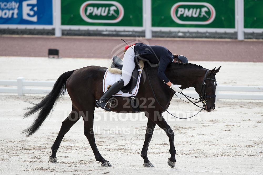 Ciska Vermeulen, (BEL), Whooney Tunes - Team Competition Grade IV Para Dressage - Alltech FEI World Equestrian Games&trade; 2014 - Normandy, France.<br /> &copy; Hippo Foto Team - Jon Stroud <br /> 25/06/14