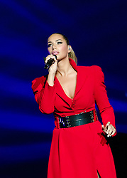 "© Licensed to London News Pictures. 08/05/2013. London, UK.   Leona Lewis performing live at Royal Albert Hall  to promote her third album ""Glassheart"".  Leona Louise Lewis is a British singer and songwriter who first came to prominence after winning the third series of The X Factor in 2006.   FOR EDITORIAL USE ONLY.  Photo credit : Richard Isaac/LNP"