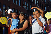 "USA, Chicago, July 30 - August 2, 2009.  ""Fiesta del Sol,"" one of the largest Latino festivals in the USA, began in 1972 as a block party. Originally concieved of as a fund-raising event by the Pilsen Neighbors Community Council, which focuses on grassroots issues such as education, healthcare, housing and immigrant civil rights, it is now a full-bodied celebration of roots, achievement, and Hispanic pride."