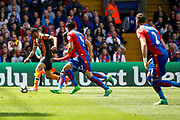Hull City Midfielder Ahmed Elmohamady finds himself through on goal during the Premier League match between Crystal Palace and Hull City at Selhurst Park, London, England on 14 May 2017. Photo by Andy Walter.