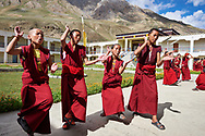 Annual inter-nunnery debating session - Sherab Choeling nunnery, Lahaul-Spiti, India, 2015