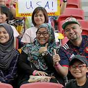 Rugby and its fans share a positive infinite diversity. Singapore Sevens, Day 1, National Stadium, Singapore.  Photo by Barry Markowitz, 4/15/17