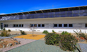 Energy efficient CIEMAT building research at Solar energy research establishment near Tabernas, Almeria, Spain
