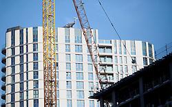 UK ENGLAND LONDON 20APR15 - Highrise development seen from Commercial Street, Tower Hamlets, London.<br /> <br /> <br /> <br /> jre/Photo by Jiri Rezac<br /> <br /> <br /> © Jiri Rezac 2015