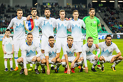Slovenian team with Bostjan Cesar during friendly football match between National teams of Slovenia and Belarus, on March 27, 2018 in SRC Stozice, Ljubljana, Slovenia. Photo by Ziga Zupan / Sportida