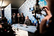 ROMA. ANGELINO ALFANO SEGRETARIO NAZIONALE DEL PARTITO DI BERLUSCONI IL POPOLO DELLA LIBERTA' IN CONFERENZA STAMPA;