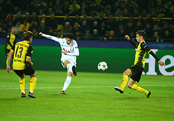 November 21, 2017 - Westfalenstadion, Germany - Tottenham Hotspur's Son Heung-Min scores his sides second goal .during UEFA Champion  League Group H Borussia Dortmund between Tottenham Hotspur played at Westfalenstadion, Dortmund, Germany 21 Nov 2017  (Credit Image: © Kieran Galvin/NurPhoto via ZUMA Press)
