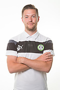Forest Green Rovers analysis James Parsons during the Forest Green Rovers Photocall at the New Lawn, Forest Green, United Kingdom on 31 July 2017. Photo by Shane Healey.