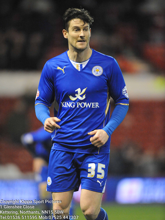 DAVID NUGENT, Leicester City, Nottingham Forest v Leicester City, City Ground Nottingham,  Sky Bet Championship, 19th Febuary 2014