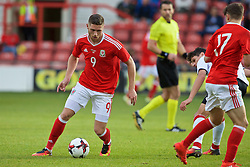 WREXHAM, WALES - Friday, September 2, 2016: Wales' Wesley Burns in action against Denmark during the UEFA Under-21 Championship Qualifying Group 5 match at the Racecourse Ground. (Pic by Paul Greenwood/Propaganda)