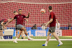 MADRID, SPAIN - Friday, May 31, 2019: Liverpool's Virgil van Dijk during a training session ahead of the UEFA Champions League Final match between Tottenham Hotspur FC and Liverpool FC at the Estadio Metropolitano. (Pic by Handout/UEFA)