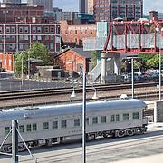 Antique Trains behind Kansas City's Union Station