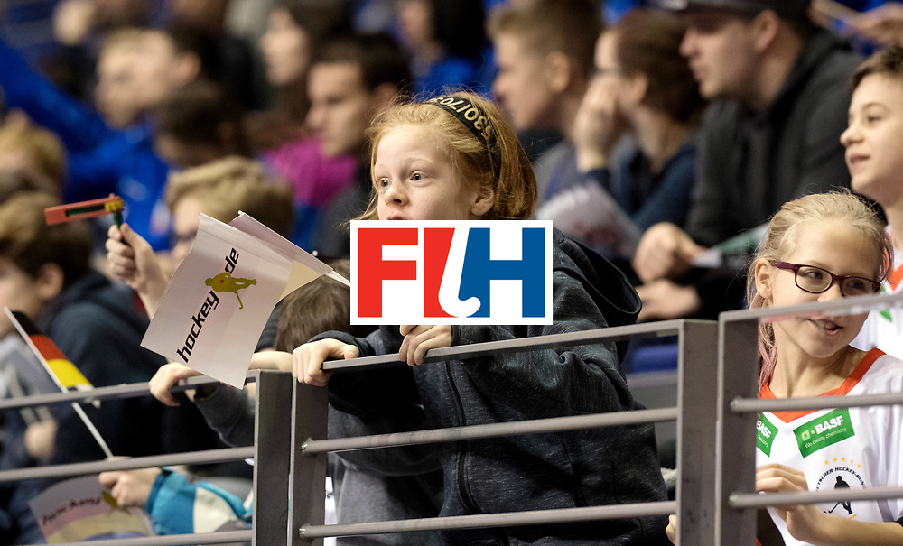 BERLIN - Indoor Hockey World Cup<br /> Women: Ukraine - Germany<br /> foto: German fan excited.<br /> WORLDSPORTPICS COPYRIGHT FRANK UIJLENBROEK