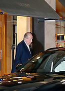 EXCLUSIVE MADRID, SPAIN, 2015, FEBRUARY 05<br /> <br />  King Juan Carlos, enjoy an afternoon of shopping, oblivious to the controversy with the formation of government as well as the trial for the case Noos, in which his daughter, Princess Cristina is involved. Each pair of Glent shoes is handcrafted and custom made. <br /> ©Exclusivepix Media