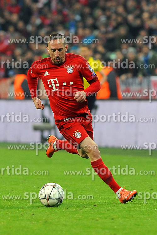 16.03.2016, Allianz Arena, Muenchen, GER, UEFA CL, FC Bayern Muenchen vs Juventus Turin, Achtelfinale, Rueckspiel, im Bild Franck Ribery (FC Bayern Muenchen) // during the UEFA Champions League Round of 16, 2nd Leg match between FC Bayern Munich and Juventus FC at the Allianz Arena in Muenchen, Germany on 2016/03/16. EXPA Pictures &copy; 2016, PhotoCredit: EXPA/ Eibner-Pressefoto/ Stuetzle<br /> <br /> *****ATTENTION - OUT of GER*****