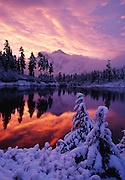 Image of Mount Shuksan at sunrise at North Cascades National Park, Washington, Pacific Northwest. TO BUY THIS PRINT CLICK HERE: http://eepurl.com/gd0zqf<br />