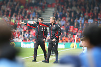 Football - 2016 / 2017 Premier League - AFC Bournemouth vs. Stoke City<br /> <br /> Bournemouth's Manager Eddie Howe and his Assistant Jason Tindall give some instructions to there team at the Vitality Stadium (Dean Court) Bournemouth<br /> <br /> COLORSPORT/SHAUN BOGGUST