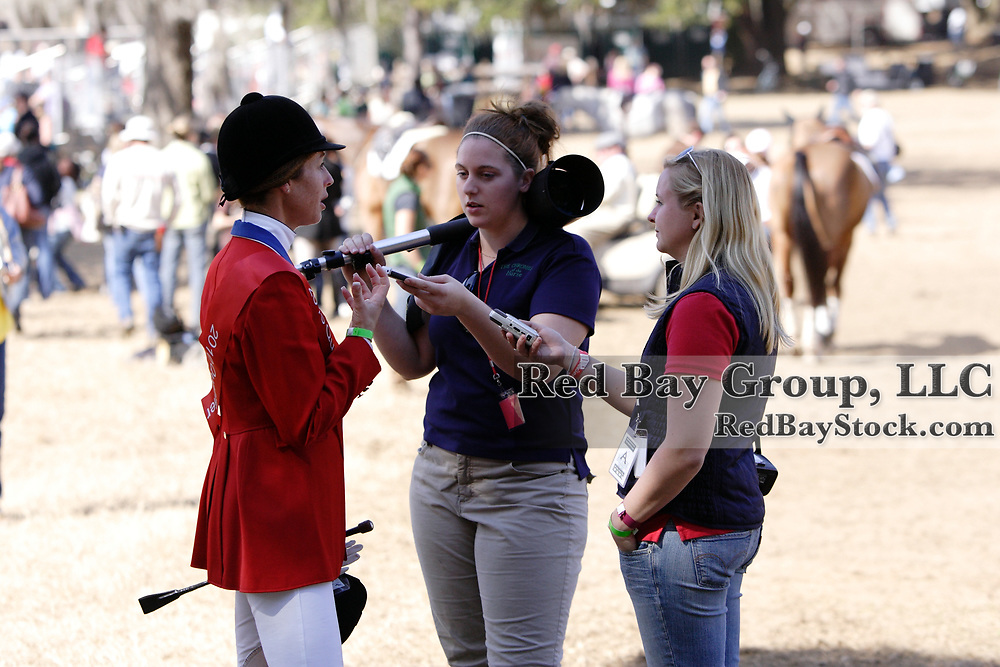 Mara Dean talking to the press at the 2010 HSBC FEI World Cup Eventing Qualifier at Red Hills Horse Trials in Tallahassee, Florida