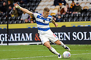 Queens Park Rangers defender Jake Bidwell (3)  during the EFL Sky Bet Championship match between Hull City and Queens Park Rangers at the KCOM Stadium, Kingston upon Hull, England on 16 March 2019.