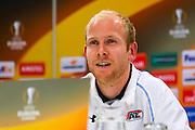 ALKMAAR - 21-10-2015, Persconferentie AZ - FC Augsburg, AFAS Stadion, AZ speler Jop van der Linden.