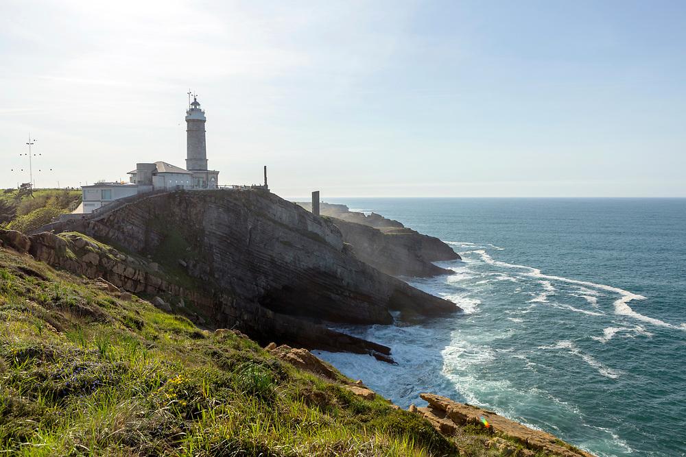 SANTANDER, SPAIN - April 17 2018 Cabo Mayor Lighthouse, Santander, Spain, Europe.