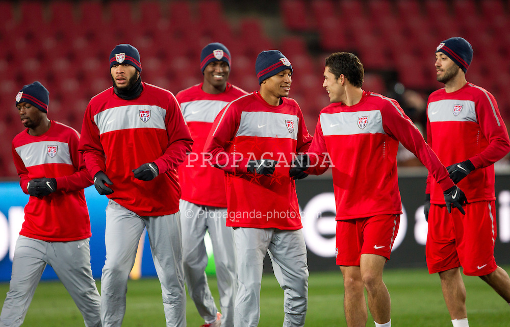 DaMarcus17.06.2010, Ellis Park Stadium, Johannesburg, RSA, FIFA WM 2010, USA (USA) Training, im Bild  Beasley, Oguchi Onyewu, , Clint Dempsey during training session of USA National team. EXPA Pictures © 2010, PhotoCredit: EXPA/ Sportida/ Vid Ponikvar