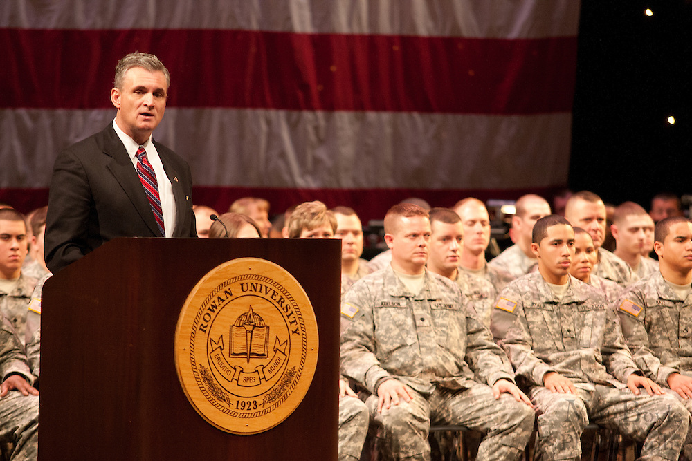 119th Combat Sustainment Support Battalion deployment ceremony  at Rowan University in Glassboro, NJ on Saturday December 18, 2010. (photo / Mat Boyle).