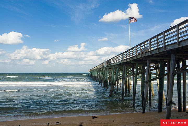 The Flagler Beach Pier on Florida's east coast.