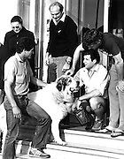 New Zealand All Blacks in Porthcawl, 1980. From left: Bernie Fraser, John Spiers, Bill Osborne (seated) and Geoff Hines. Photo: PHOTOSPORT/Peter Bush