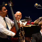 Drummer Ali Jackson and bassist Carlos Henriquez perform with Wynton Marsalis and the Jazz at Lincoln Center Orchestra at The Music Hall in Portsmouth, NH. June, 2013