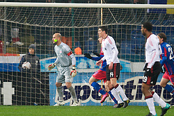 BUCHAREST, ROMANIA - Thursday, December 2, 2010: Liverpool's captain goalkeeper Jose Reina is targeted with a laser fired from the crowd during the UEFA Europa League Group K match against FC Steaua Bucuresti at the Stadionul Steaua. (Pic by: David Rawcliffe/Propaganda)