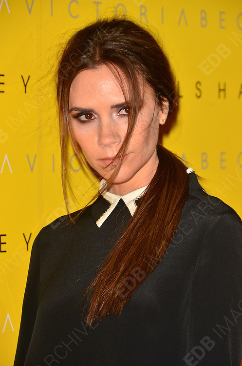 17.FEBRUARY.2012. LONDON<br /> <br /> VICTORIA BECKHAM AT THE LAUNCH OF HER NEW FASHION LINE 'VICTORIA' AT HARVEY NICHOLS IN LONDON<br /> <br /> BYLINE: EDBIMAGEARCHIVE.COM<br /> <br /> *THIS IMAGE IS STRICTLY FOR UK NEWSPAPERS AND MAGAZINES ONLY*<br /> *FOR WORLD WIDE SALES AND WEB USE PLEASE CONTACT EDBIMAGEARCHIVE - 0208 954 5968*