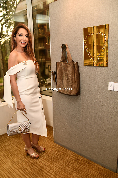 Mariam Michtawi is a artist attend the London Arabia Art & Fashion Week 2019 at Jumeirah Carlton Tower, on 5 August 2019, London, UK.