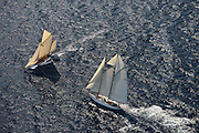 "France Saint - Tropez October 2013, Classic yachts racing at the Voiles de Saint - Tropez<br /> <br /> C,77,LELANTINA,""25,93"",GOELETTE AURIQUE/1937,JOHN ALDEN<br /> <br /> C,CAG,VERONIQUE,""24,86"",YAWL AURIQUE/1907,A.R LUKE"