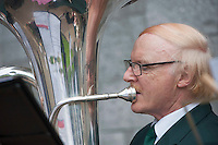 12/07/2015   repro free The National Day of Commmeoration Ceremony was held in NUI, Galway in honour of all those who irish mean nd women who died in past wars or on service with the UN . St Patrick's Brass band provideed the music.<br /> Photo:Andrew Downes:XPOSURE