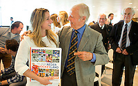 UTRECHT - Ellen Hoog met .. Presentatie KNHB boek 115 jaar Nederland Hockeyland. FOTO KOEN SUYK