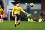 Arsenal defender Héctor Bellerín in action during the Premier League match between Burnley and Arsenal at Turf Moor, Burnley, England on 2 February 2020.