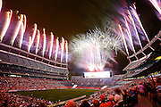 DENVER, CO - JULY 4: Post-game fireworks at Sports Authority Field at Mile High after the Denver Outlaws versus Boston Cannons Major League Lacrosse game on July 4, 2015 in Denver, Colorado. The Cannons won the game 22-9. (Photo by Marc Piscotty/Getty Images)
