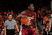 January 27, 2013: Montay Brandon #5 of Florida State in action during the NCAA basketball game between the Miami Hurricanes and Florida State Seminoles at the BankUnited Center in Coral Gables, FL. The Hurricanes defeated the Seminoles 71-47.